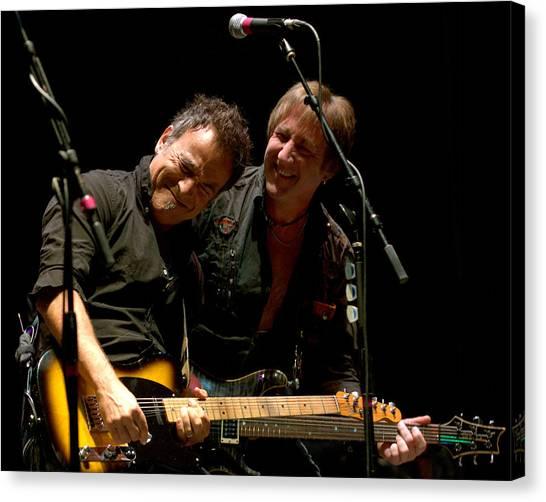 Bruce Springsteen And Danny Gochnour Canvas Print
