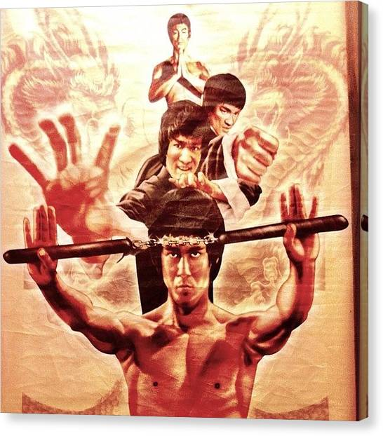 Karate Canvas Print - #brucelee #china #martialarts #kungfu by Uriel Gonzalez