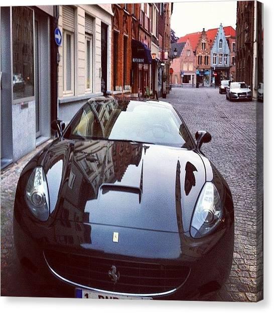 Ferrari Canvas Print - Bruges, Belgium Ferrari Ride #ferrari by Kensf Iphone