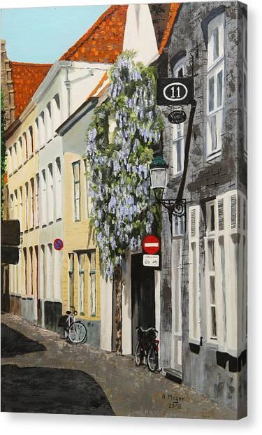 Bruges Wisteria Canvas Print