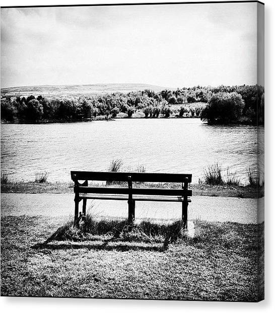 Ponds Canvas Print - Bryn Bach Parc by Rachel Williams