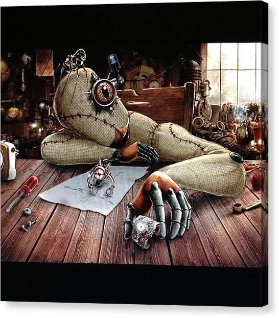 Steampunk Canvas Print - Bu Gece Aldiim Bir Haberle Yuzum by Ilker Yuksel