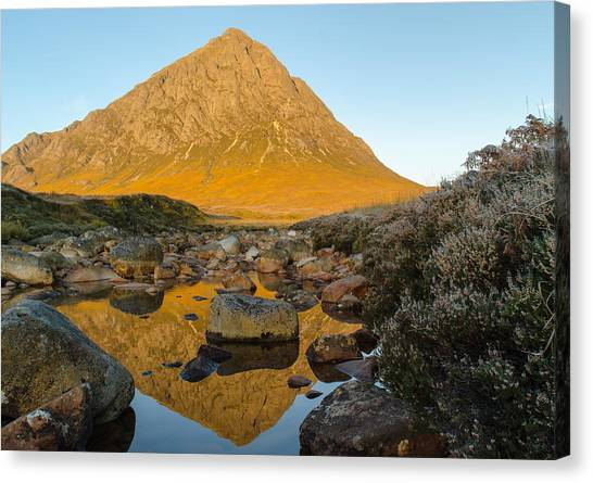 Buachaille Etive Mor At Sunrise Canvas Print by Ben Spencer