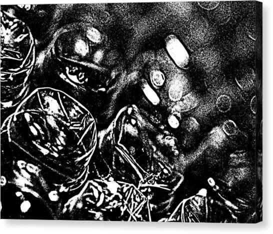 Bubble Scape Canvas Print by Catherine Morgan