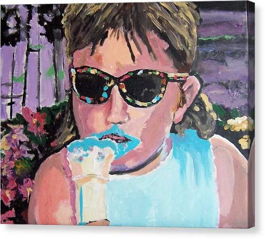 Bubblegum Ice Cream Canvas Print