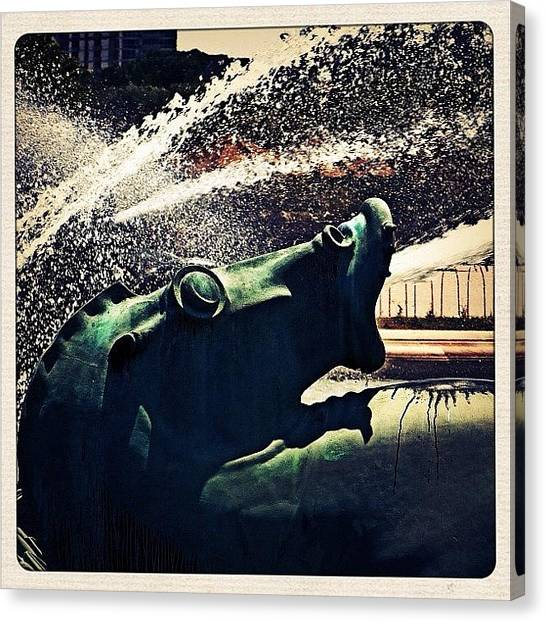 Seahorses Canvas Print - Buckingham Fountain Detail. #art by Christopher Hughes