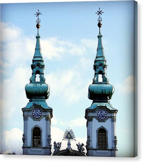 Orthodox Art Canvas Print - Budapest Twins by Carlos Macia Perez