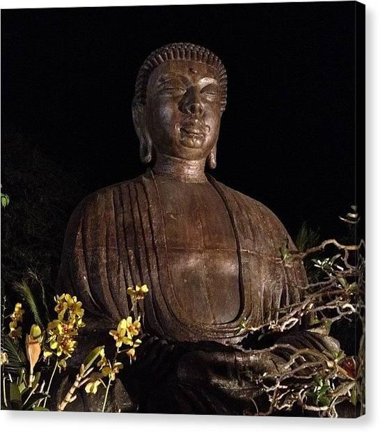 Spiritual Canvas Print - Buddha At Night by Darice Machel McGuire