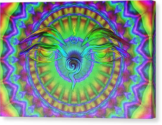 Buddha Eyes Canvas Print by Wayne Bow
