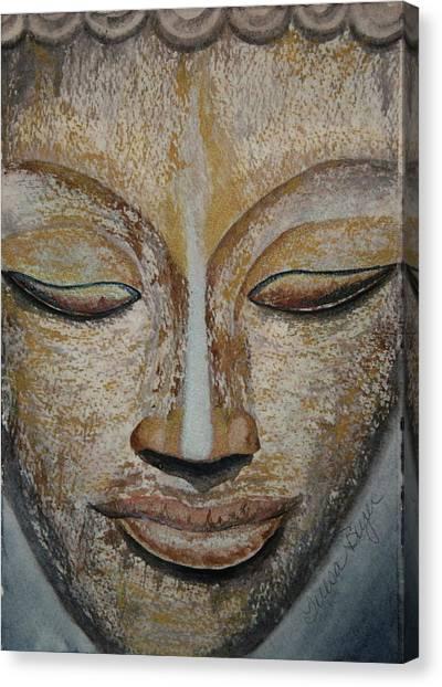 Buddha Face Canvas Print