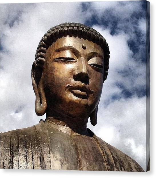 Head Canvas Print - Buddha In The Sky by Darice Machel McGuire