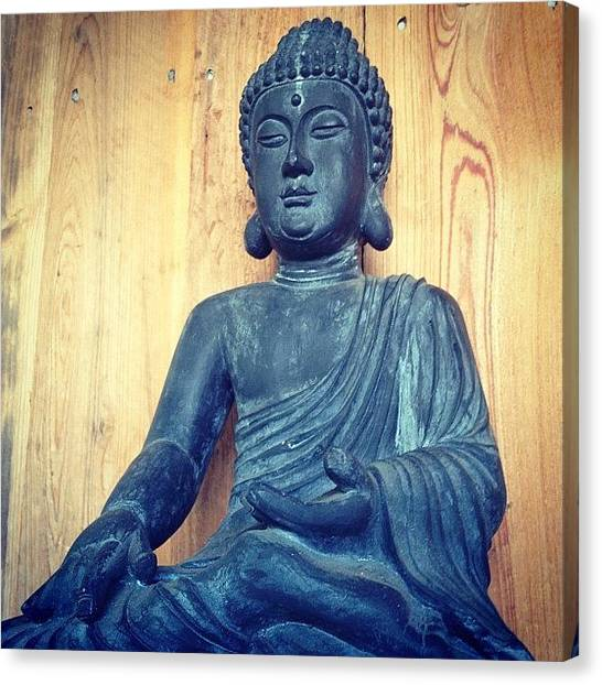 Saints Canvas Print - Buddha Statue by Ali Brauda