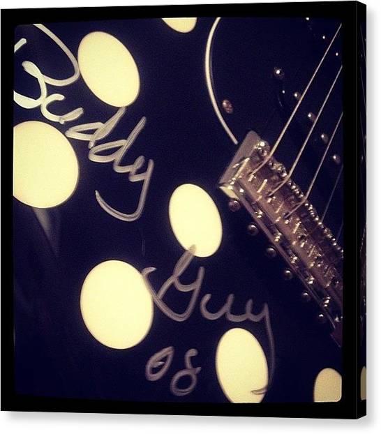 Fender Guitars Canvas Print - #buddyguy #fender  #instagoodr by Mike Meissner