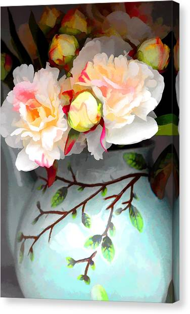 Buds In Vase Canvas Print