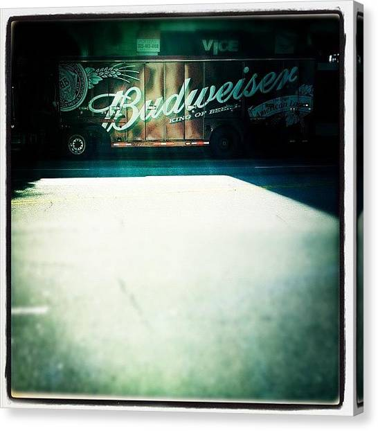 Trucks Canvas Print - Budweiser by Torgeir Ensrud