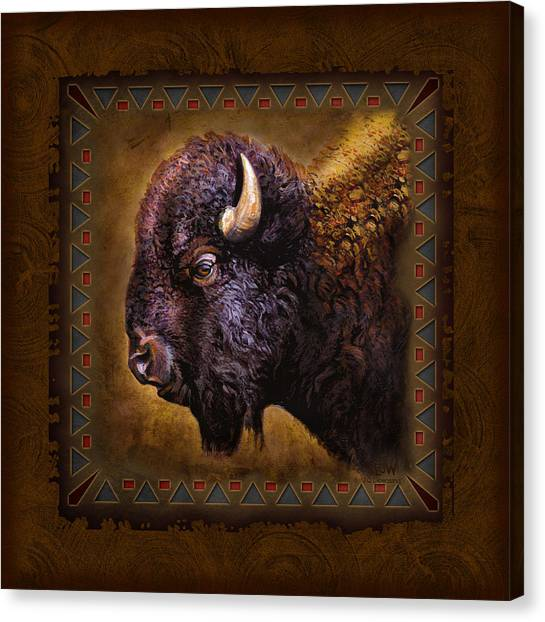 Wyoming Canvas Print - Buffalo Lodge by JQ Licensing