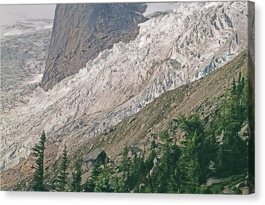 Canada Glacier Canvas Print - Bugaboo Glacier Flows Around The Hounds by Gordon Wiltsie