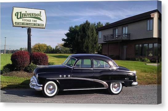 Buick Eight 1952 Canvas Print by Elizabeth Coats