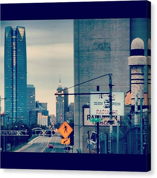 Oklahoma Canvas Print - #building #architecture #downtown by James Dornan