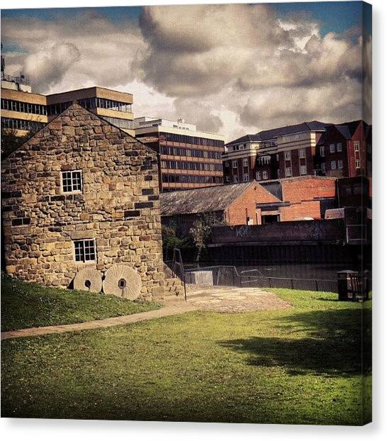 Rivers Canvas Print - #building #green #uk #england #york Or by Abdelrahman Alawwad