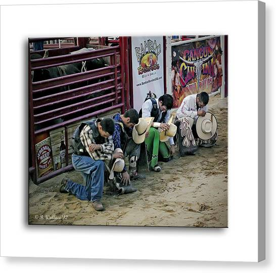 Take A Knee Canvas Print - Bull Riders Prayer by Brian Wallace