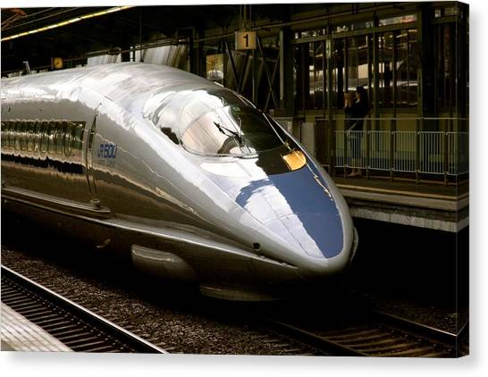 Bullet Trains Canvas Print - Bullet Train by Jerry Patterson