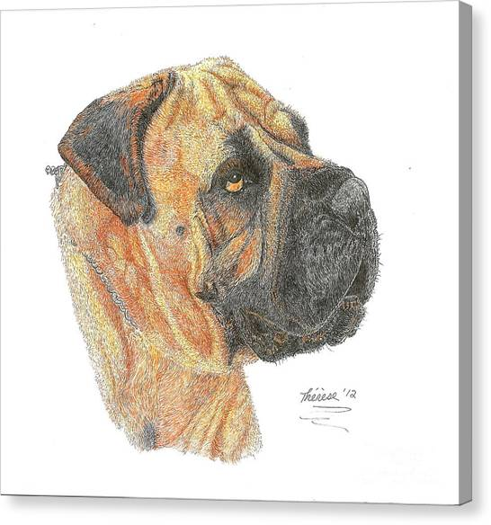 Bullmastiff Canvas Print