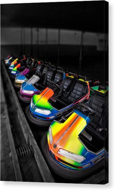 Bumper Cars Canvas Print by Mark Dottle