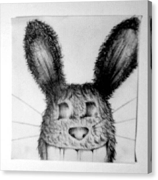 Teeth Canvas Print - Bunny Creep by Jasmin Dring