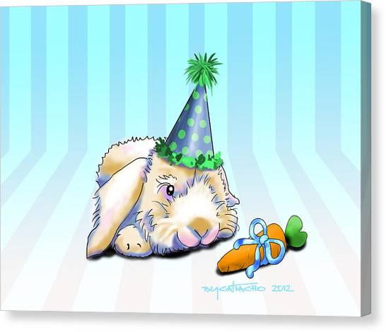 Bunny Present Canvas Print