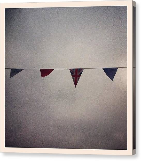 Songbirds Canvas Print - Bunting Fit For A Queen by Matt Rhodes