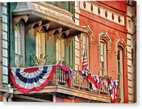 Bunting In Canton Square  Canvas Print