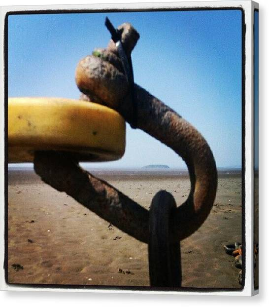Bands Canvas Print - #buoy Not #boy #chain Not #rain #rust by Kevin Zoller