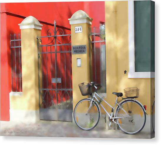 Burano Bicyle Doctor Canvas Print