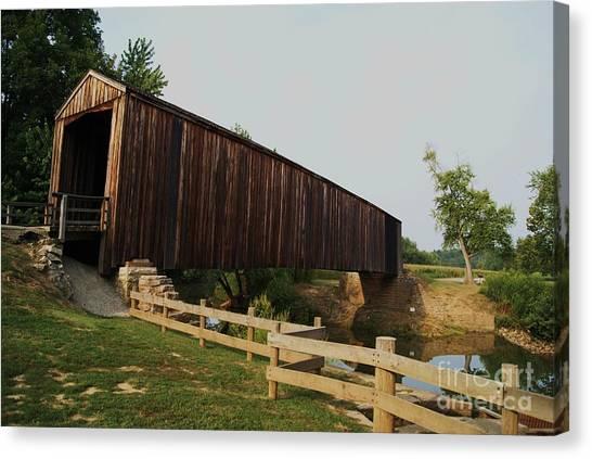 Burford Covered Bridge Canvas Print