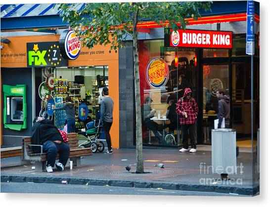 Burger King On The Throne Canvas Print