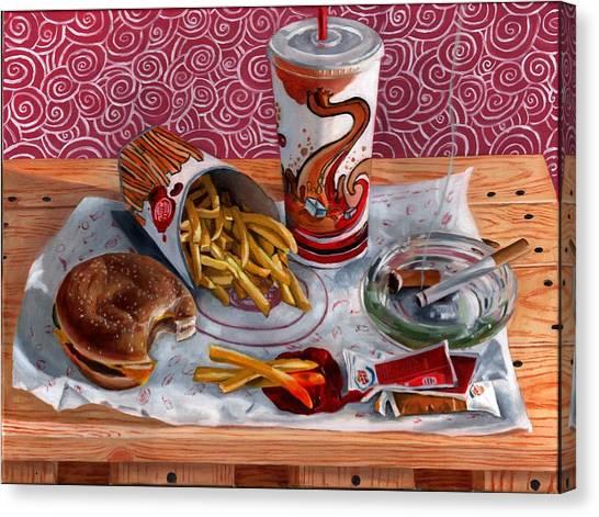 Burger King Value Meal No. 3 Canvas Print