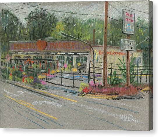 967dbef05ef8 Markets Canvas Print - Burger s Market by Donald Maier