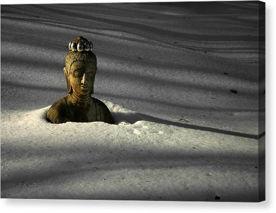 Buried Buddha Canvas Print by Christine Gauthier
