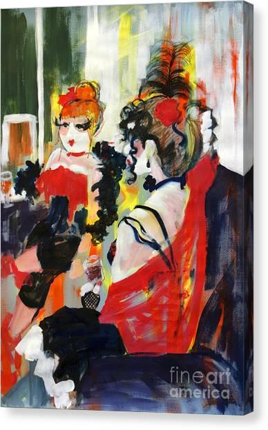 Burlesque Night Canvas Print