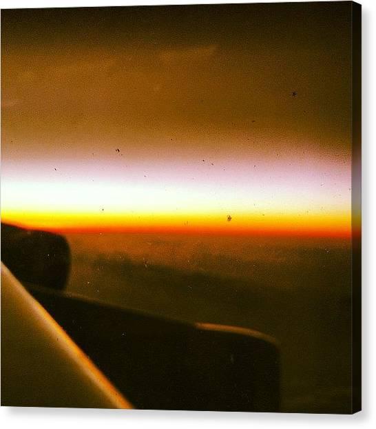 Flying Canvas Print - Burning Horizon by Dan Layton