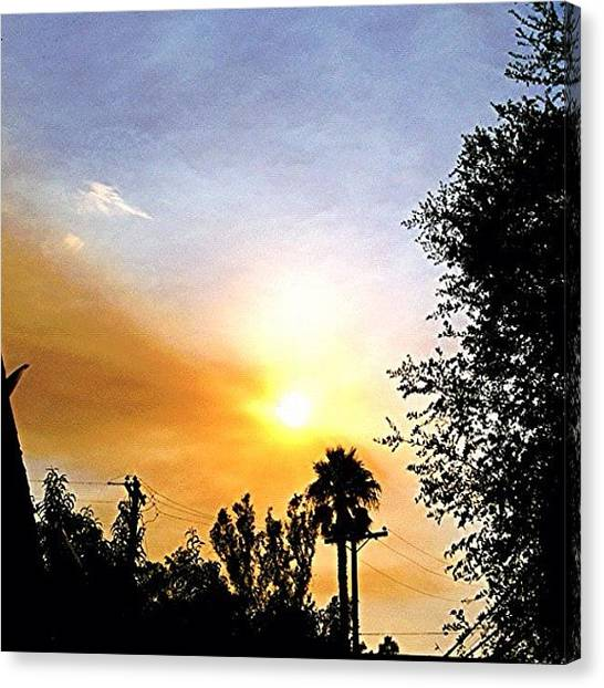 Firefighters Canvas Print - Burning Sky..#cali #fires #smoke by Jim Neeley