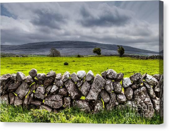 Burren Stones Canvas Print