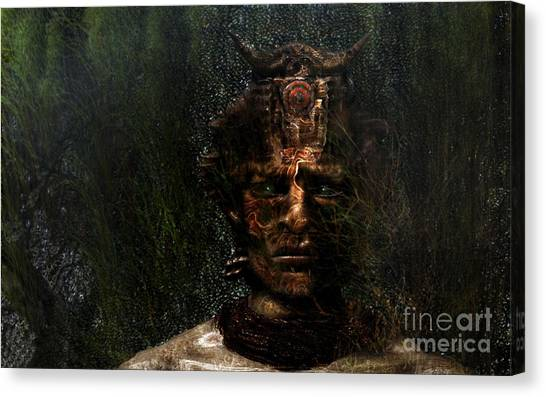 Bushman Canvas Print by Jan Willem Van Swigchem
