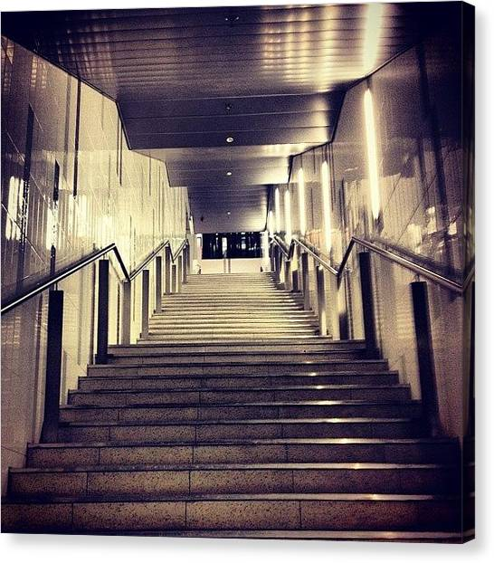 London Tube Canvas Print - Busway Stairs by Darren Frankish