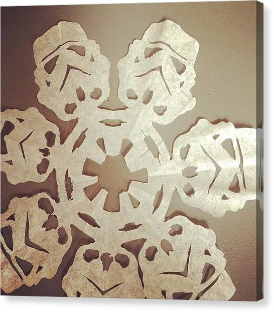 Stormtrooper Canvas Print - #busy At Work #snowflakes #starwars by Felicia Cash