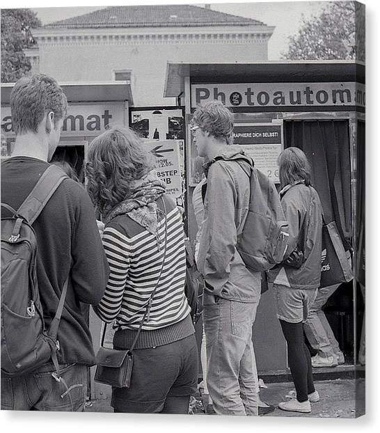 Berlin Canvas Print - #busy #busy At Photobooth #thisisfilm by Andy Kleinmoedig