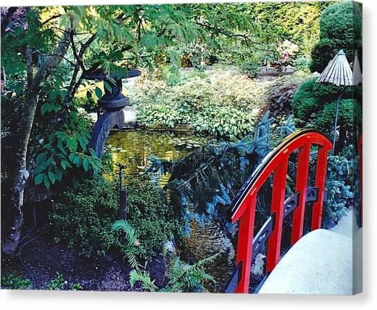 Butchart Gardens Japanese Bridge Canvas Print