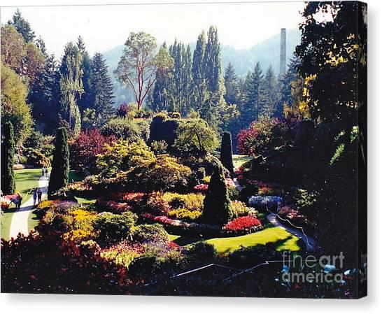 Butchart Gardens Splendor Canvas Print