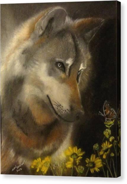 Butter-wolf Canvas Print